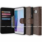 Antique Mesh Wallet Book Flip Leather Case Cover Card Slot for Apple Samsung LG