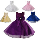New Flower Girl Party Bridesmaid Wedding Pageant Dress in 5 Colours From 1-9Year
