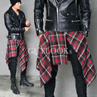 Unisex Mens Womens Flannel Red Green Violet Checkered Wrap Skirt kilt Guylook