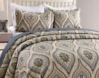 3Pc Quilt Bedspread Sets Bedding Coverlet Bedroom Floral Queen King Size, Joniy