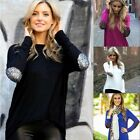 1x Fashion Women Ladies Casual Loose Tops Solid Long Sleeve Irregular Blouse FKS