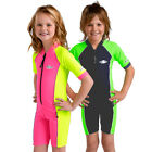 Girls Boys Kids Rash Suit Short Sleeve Swimwear UV Sun Protection Size 2 4 6 8