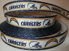 "GROSGRAIN SAN DIEGO CHARGERS FOOTBALL 7/8"" RIBBON*YOUR CHOICE 1,3 or 5 YARDS"