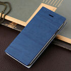 Wood Grain PU Leather Wallet ID Card Stand Cover Case For Apple iPhone 6 6S Plus