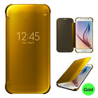 Smart Mirror Shiny View Flip Hard Case Cover With Sleep Wake For Samsung Phones <br/> IC Chip Features Download Software using card included