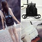 Women's Korean Style Casual PU Leather Backpack Bookbags Shoulder Bag Rucksack
