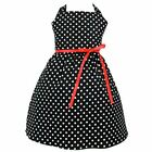 rockabilly kids dresses - Kid's Hemet Polka Dot Dress Black/White Retro Rockabilly