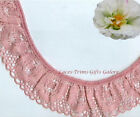 """3 Yards Lace Trim Rose Ruffled 1-1/2"""" Floral RB03V Added Items Ship No Charge"""
