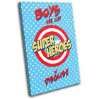 Boys Comic Super Hero  For Kids Room CANVAS WALL ART Picture Print VA