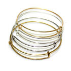 Expandable Wire Bangle Adjustable Bracelet Adjustable Gold Silver Tone Jewelry