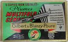 UPDATED 22 sept. 2016:  LIST 1 of a dozen vintage Gilbert & Blanzy-Poure nibs