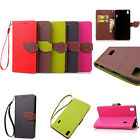 Flip Cute Card Holder Stand PU Wallet Leather Case Cover For Lenovo Cell Phone