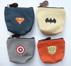 SUPERHERO Zip Coin Purse boys girls childrens 4 designs Batman party bags NEW