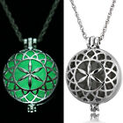 Gothic Steampunk Locket Halloween Luminous Glow In The Dark Pendant Necklace