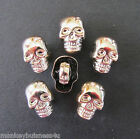 7 Novelty Buttons - Skull #2 - 12.5mm x 9mm - Punk/Rock - Knitting/Sewing/Cards