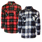 Mens Fleece Check Shirt Bruno Galli New Lumberjack Top Warm Casual Workwear