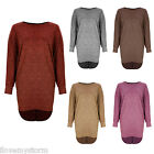 Ladies Fishtail Tunic  Round Hem Party Batwing Summer Top Dress UK 8 - 14