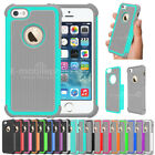 Rugged Shockproof Hybird Hard Rubber Matte Case Cover For Apple iPhone 5 5S