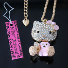 Free shipping Betsey Johnson crystal cat Pendant Necklace XL-185