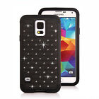 Samsung Galaxy S5, S6 Dual Layer Shockproof Cover Crystal Bling Hybrid Case