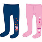 Offical Peppa Pig Girls Tights Blue & Pink S8 3-4 Years