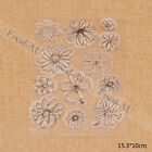Heart Flower Birthday Pattern Transparent Clear Stamp DIY Scrapbook Craft 1pc