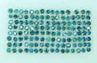 Natural Loose Diamond Round Blue Color I1 Clarity 0.70 to 1.10MM 100 Pcs Lot P24