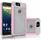 For Huawei Nexus 6P Dual Layers Rugged Rubber Hard Defender Case Protective Skin