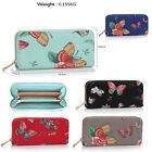 Womens Purse Ladies Clutch Coin Wallets Girls Butterfly Style Faux Leather