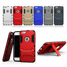 Armor Iron Man Style Dual Layer Rugged Kickstand Case cover for iphone 5 6/6s