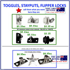 Toggles/Stayputs -S/S or Nylon from $2.20 ea - POST from $2.00 to $7.50 email me
