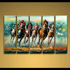 hand painted oil painting on canvas abstract horse racing wall art modern