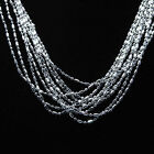 Vogue Women Beautiful Lovely Silver Plated Bamboo Chain Link Necklace 16-30 Inch