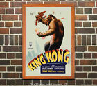 King Kong #1 Vintage Film Movie Poster Lobby Card[6 sizes, matte+glossy avail]