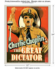 Chaplin The Great Dictator Movie Film Poster [4 sizes, matte+glossy avail]