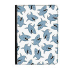 """Great White Shark Animal Zoo Funny Universal Tablet 7"""" Leather Flip Case Cover"""
