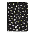 """Daisies Black Flowers Floral Universal 7"""" Leather Flip Case Cover"""