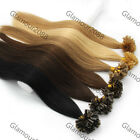 "100s 22""Pre Bonded Keratin Nail/U Tip Remy Human Hair Extensions Straight 1.2g/s"