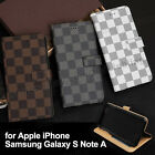 Wallet Flip PU Leather Phone Case Cover For Apple iPhone Samsung Galaxy S Note A