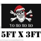 LARGE 5FT X 3FT CHRISTMAS FLAG SKULL GOTHIC WALL DISPLAY SANTA FATHER CHRISTMAS