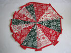 Hand Made 6ft /10 Flag Christmas Fabric Bunting Garland Merry Christmas