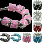 Tube Shape Black/Pink/Red European Spacer Loose Beads Fit Charm DIY Jewelry