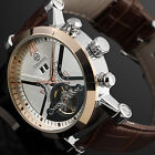 New Men's Fashion Automatic Mechanical Date Tourbillon Sport Wrist Watch Gold W