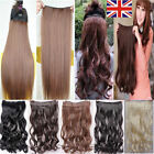 "Brown One Piece Clip in Hair Extensions Half Full Head 12"" Wide Weft 18"" 24"" 28"""