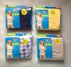 Fruit of the Loom 3-Pack Women's Assorted 100% Cotton Bikinis Panties Size M/6