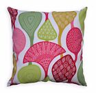 LL414a White Apple Green Pink Fushcia Red Olive Leaf Cotton Canvas Cushion Cover