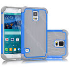 For Samsung Galaxy S5 SV i9600 Matte Rugged Rubber Hybrid Hard Shell Case Cover