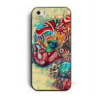 Charming Colorful Elephant Hard Case Cover Skin For iPhone 4 4G 4S 5 5G 5S