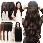 Women Girls Hairpiece Long Straight Curly half full head Clip in Hair Extensions