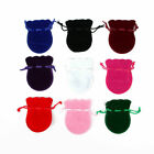 1-25pcs Small VELVET PINK CREAM GIFT POUCHES Jewellery Drawstring BAGS Wholesale